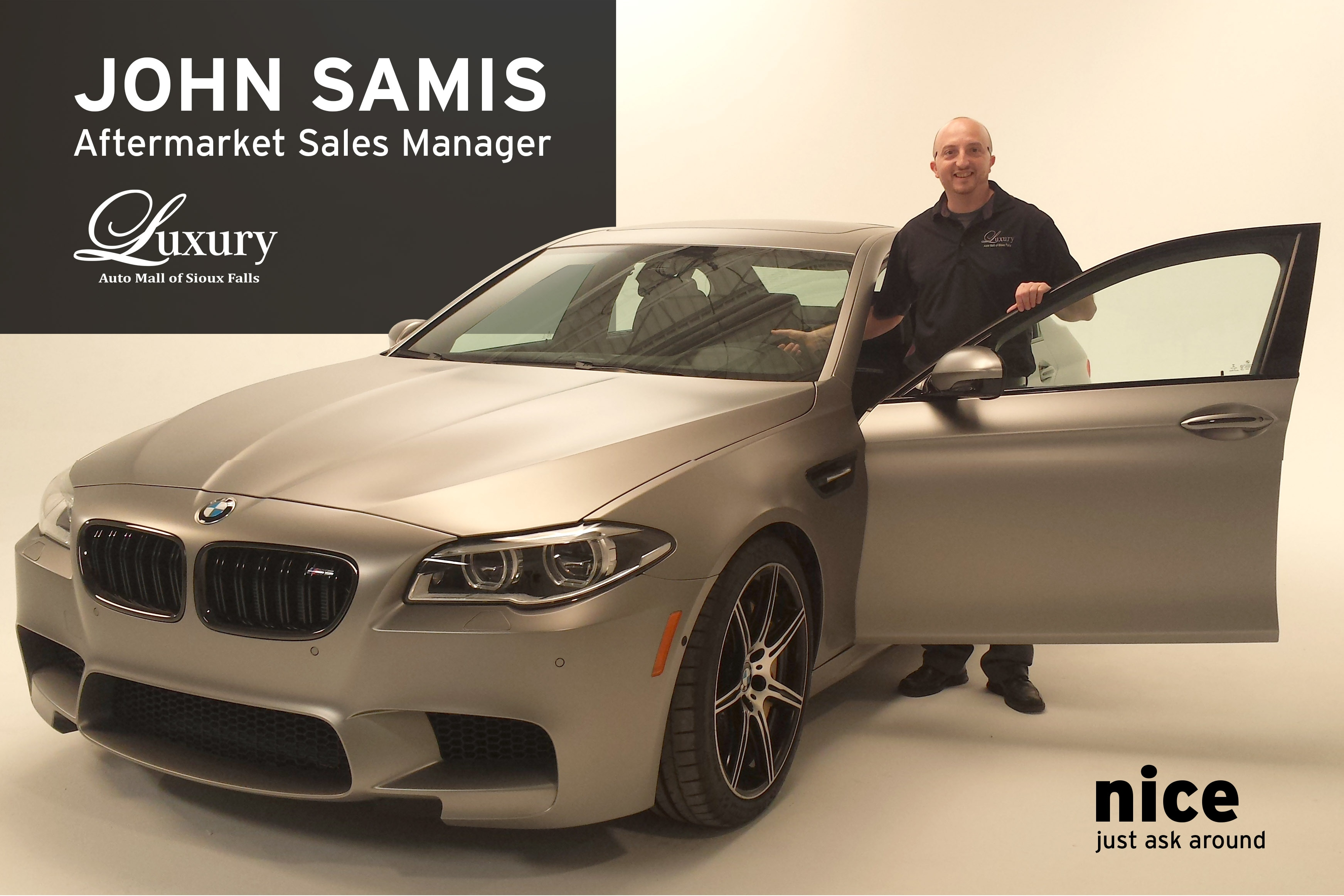 Meet Us Monday John Samis Aftermarket Sales Manager at the Luxury