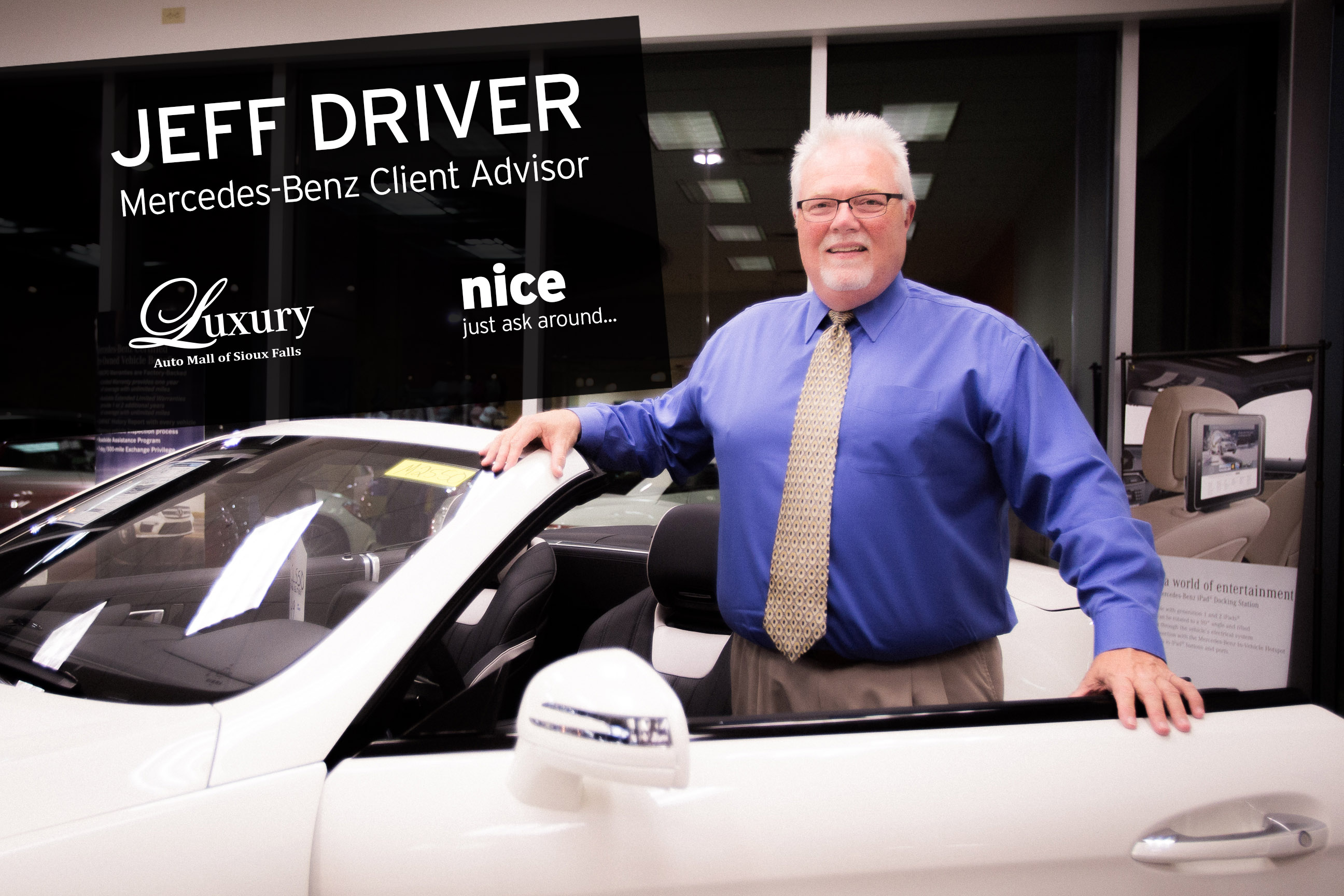 Meet Us Monday Jeff Driver Client Advisor at the Mercedes Benz of