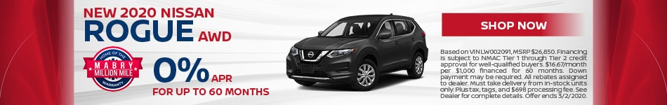 New 2020 Nissan Rogue AWD - Feb
