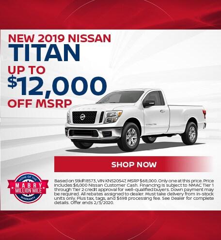 New 2019 Nissan Titan - Jan