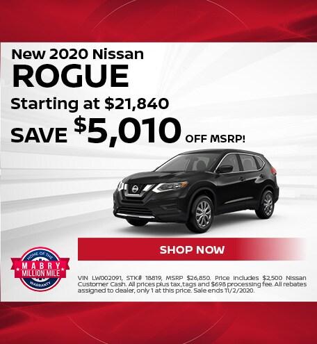 New 2020 Nissan Rogue - Oct