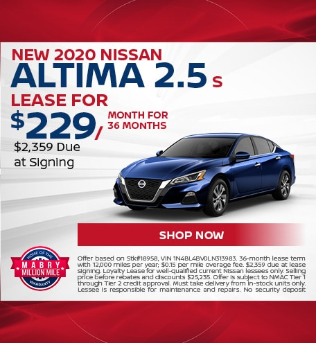 New 2020 Nissan Altima 2.5 S - March