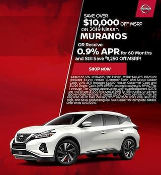 New 2019 Nissan Murano - Oct '19