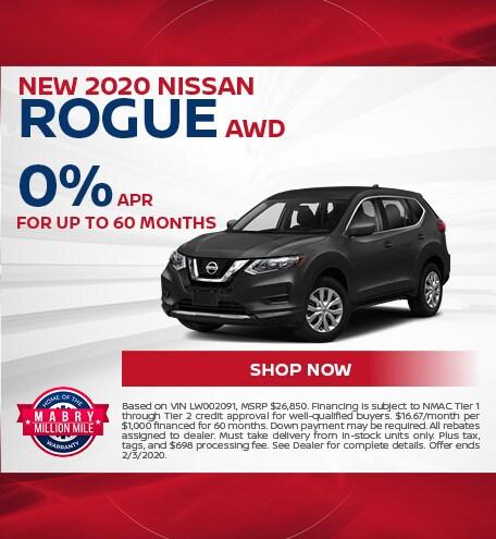 New 2020 Nissan Rogue AWD - Jan