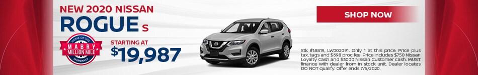New 2020 Nissan Rogue S - June