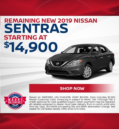 Remaining New 2019 Nissan Sentras - March