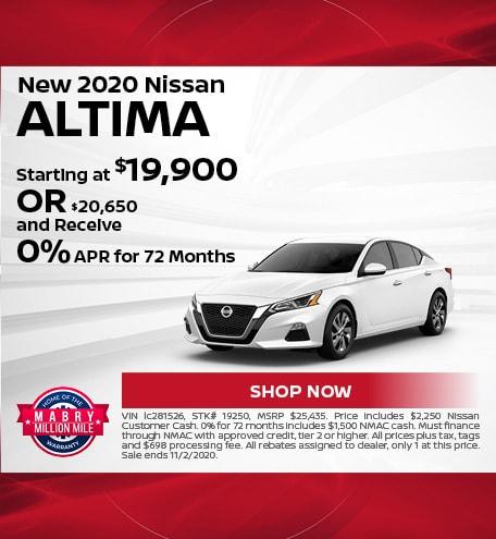 New 2020 Nissan Altima - Oct