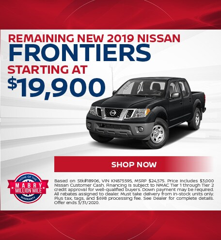 Remaining New 2019 Nissan Frontiers - March