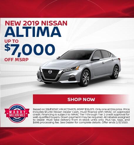 New 2019 Nissan Altima - Jan