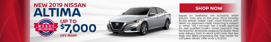 New 2019 Nissan Altima - Jan