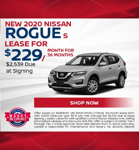 New 2020 Nissan Rogue S - March
