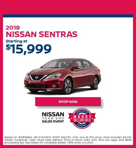 New 2019 Nissan Sentra - December