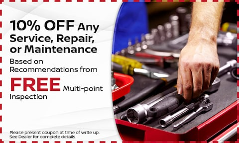 10% OFF Any Service, Repair, or Maintenance