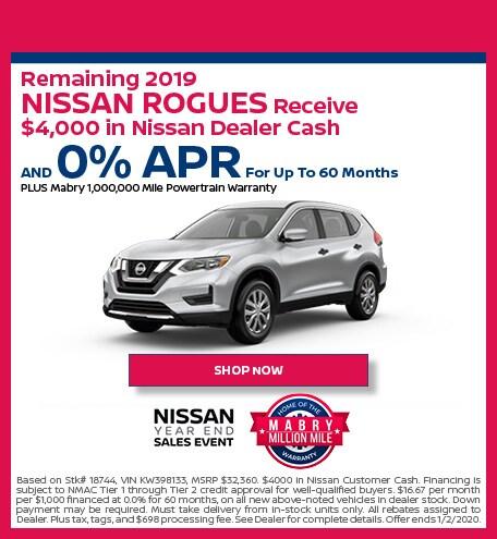 New 2019 Nissan Rogue - December
