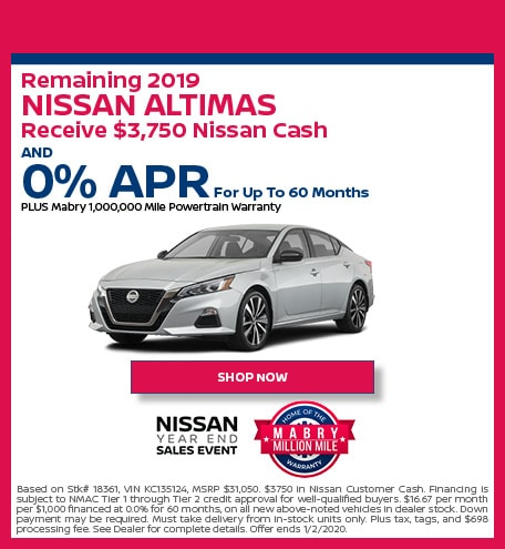 New 2019 Nissan Altima - December