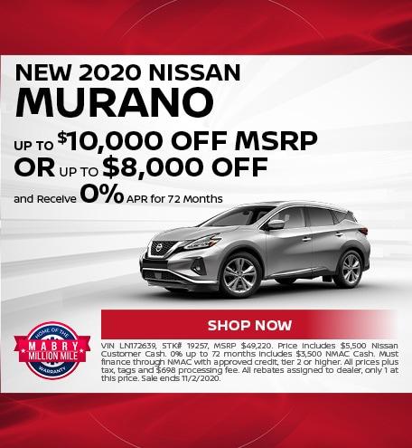 New 2020 Nissan Murano - Oct