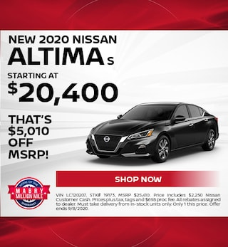 New 2020 Nissan Altima S - August
