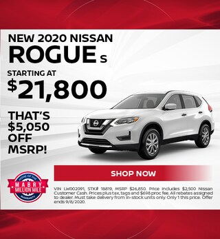 New 2020 Nissan Rogue S - August