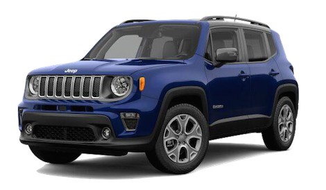 A blue 2019 Jeep Renegade Limited