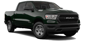 A black forest green 2019 Ram 1500 Tradesman