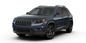 A blue 2019 Jeep Cherokee Altitude