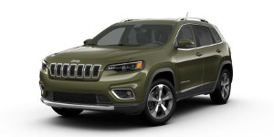 A green 2019 Jeep Cherokee Limited