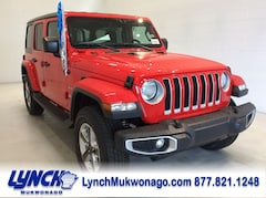 2018 Jeep Wrangler UNLIMITED SAHARA 4X4 Sport Utility 1C4HJXEG4JW303408 for sale in Mukwonago, WI at Lynch Chrysler Dodge Jeep Ram