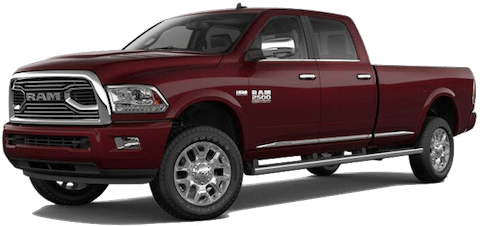 A maroon 2018 Ram 2500 Limited