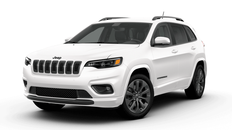 A white 2019 Jeep Cherokee High Altitude