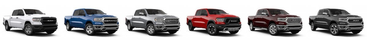 The trim levels of the 2019 Ram 1500