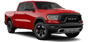 A red 2019 Ram 1500 Rebel