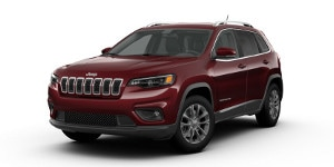 A red 2019 Jeep Cherokee Latitude Plus