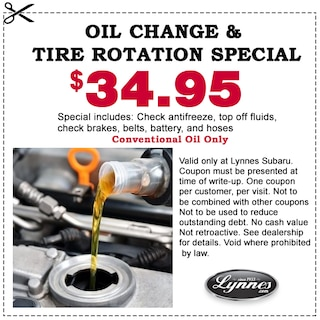 Oil Change Special 34.95