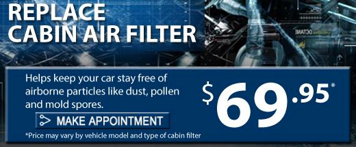 Replace Cabin Air Filter, Fresno Subaru, Make an appointment