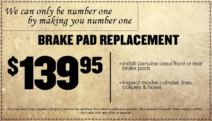 Brake Pads Special