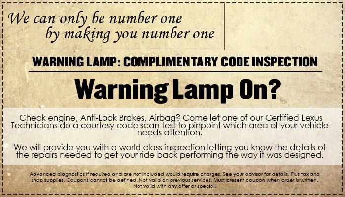 Warning Lamp Check