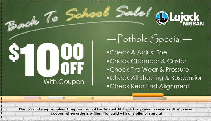 $10 off Pothole Special
