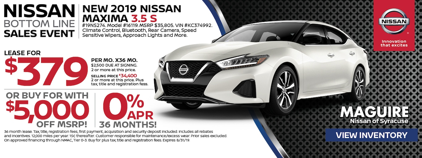 Maguire Nissan Syracuse >> Maguire Nissan of Syracuse | New Nissan Dealership in ...