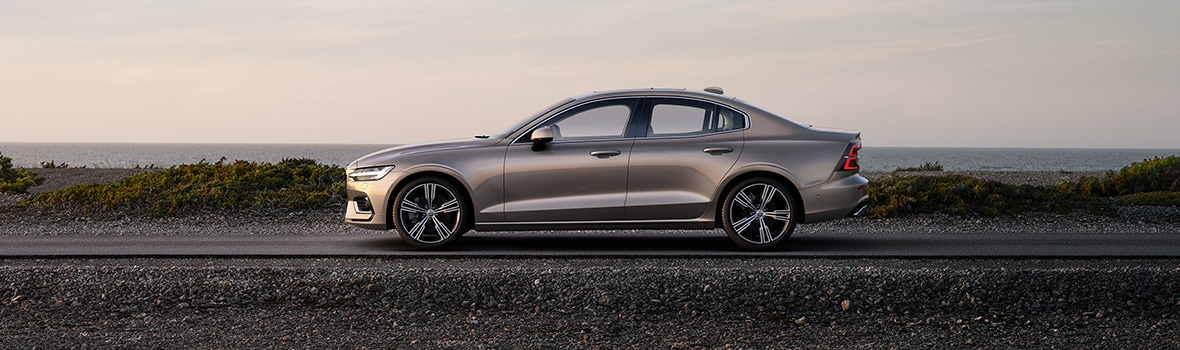 Volvo S60 with a beach location