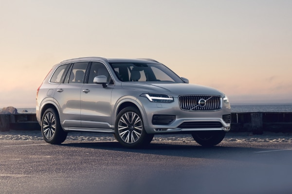 New Volvo XC90 near the water