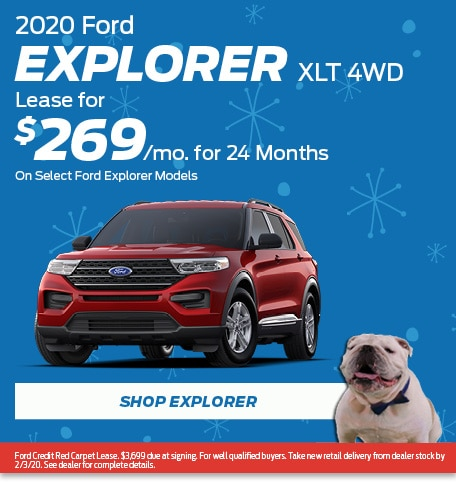 New 2020 Ford Explorer XLT 4WD | Lease