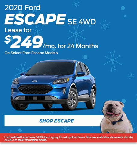 New 2020 Ford Escape SE 4WD | Lease