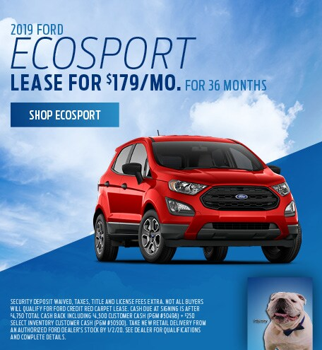 New 2019 Ford EcoSport   Lease
