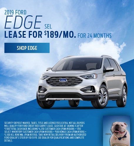 New 2019 Ford Edge SEL   Lease