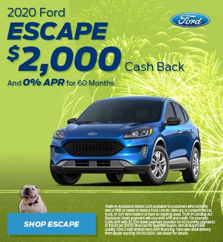 New 2020 Ford Escape | Cash Back