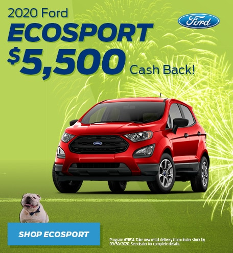New 2020 Ford EcoSport | Cash Back