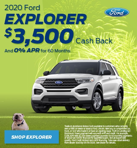 New 2020 Ford Explorer | Cash Back