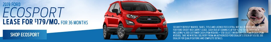 New 2019 Ford EcoSport | Lease