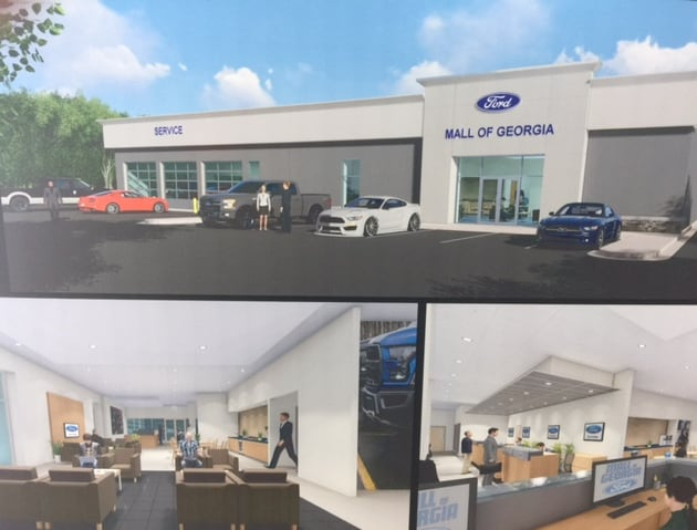 Mall of Georgia Ford New Service Waiting Area Illustration