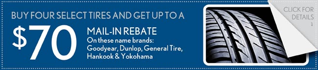 $80 Tire Rebate Coupon, Buford